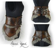 Very cool Viking belt! Maybe for shieldmaiden? - Home Decor Viking Cosplay, Viking Costume, Viking Armor, Medieval Armor, Leather Armor, Leather Belts, Leather Cord, Larp, Cool Costumes