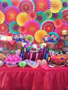 Fiesta Party Dessert Table by Sweet Rubia