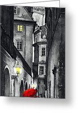 Prague Love Story Greeting Card