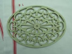French Vintage Large Oval  Metal Trivet....Mint by LeMoulinBleu, $28.00