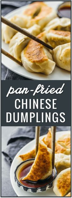 Pan-fried Chinese dumplings recipe potstickers pork dumplings easy dumplings how to cook dumplings from scratch beef dumplings fried frozen boil filling ideas authentic homemade chicken for soup asian via How To Cook Dumplings, Beef Dumplings, Chinese Dumplings, Dumplings Recipe Easy, Homemade Dumplings, Authentic Chinese Dumpling Recipe, Authentic Chinese Food, Asian Dumpling Recipe, Cooking Dumplings