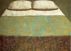 still life art - Domenico Gnoli - I love the detail on the embroidery