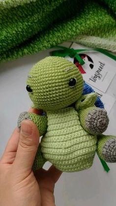 Crochet Animal Patterns, Stuffed Animal Patterns, Crochet Patterns Amigurumi, Amigurumi Doll, Crochet Dolls, Crochet Turtle Pattern, Crochet Dragon, Knitted Animals, Cute Crochet