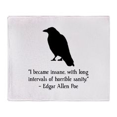 Edgar Allen Poe Quote Throw Blanket by Spot_Of_Tees - CafePress - zitate Quotes Dream, Peace Quotes, Poem Quotes, Words Quotes, Quotes To Live By, Life Quotes, Free Soul Quotes, Ship Quotes, Book Qoutes