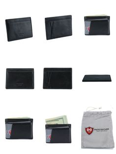 Do you want to avoid your identity being stolen?  Use this minimalist genuine pebble wallet to avoid Identity Theft. Genuine Top Quality Pebble Leather RFID Blocking Minimalist Wallet.  RFID Blocking Wallet to prevent credit card skimming.  Minimalist Wallets has 4 credit card slots and 1 large opening on top for cash or more cards.  Wallet tested with 10 cards and 20 bills.  Size: 4 x 2 7/8 x 1/8 inches.  Color: Black.  Protected Cards Embossed on the Front of Wallet. Identity Theft Prevention, Awesome Inventions, Cash Wallet, Rfid Blocking Wallet, Front Pocket Wallet, Minimalist Wallet, Pebbled Leather, Carbon Fiber, Color Black