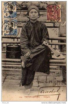 VIETNAM INDOCHINE COCHINCHINE TONKIN HANOÏ SAIGON  TUYEN QUANG INDIGENE  (voyagé en 1908)