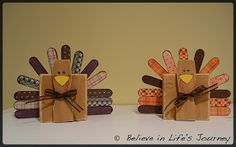 Believe in Life's Journey: Turkey 2x4 Craft