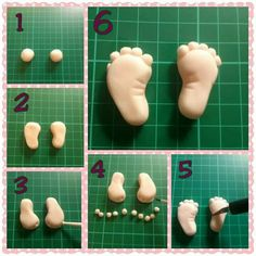 Fondant baby feet tutorial