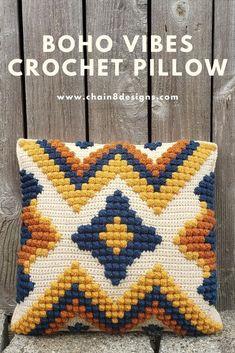 Modern Crochet, Crochet Crafts, Yarn Crafts, Crochet Yarn, Crochet Stitches, Free Crochet, Crochet Home Decor, Bobble Stitch Crochet, Crochet House