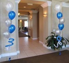 Party People Celebration Company - Special Event Decor Custom Balloon decor and Fabric Designs: First Communion Luncheon Eaglebrooke for boys. Boys First Communion, First Communion Cakes, Première Communion, Communion Centerpieces, First Communion Decorations, Shower Centerpieces, 5 Balloons, Custom Balloons, Air Balloon