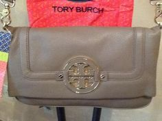 Double duty bag. Great to travel with, crossbody that converts to clutch~ Tory Burch Amanda Foldover #mothersday