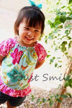 Peasant Top PDF Sewing pattern Girls Sizes 12mo-7 Tutorial E Book. $7.50, via Etsy.