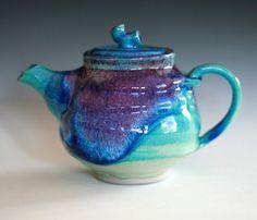 Turquoise Teapot, Ceramic Teapot, ceramics and pottery. $115.00, via Etsy.