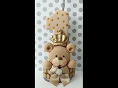 vela personalizada de biscuit tema( Urso Rei) - YouTube
