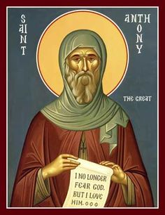 Learn all about the history and name day information of Saint Anthony, one of the early saints of the Orthodox Christian Church. Byzantine Art, Byzantine Icons, Anthony The Great, San Antonio Abad, Saint Antony, Orthodox Christianity, Orthodox Catholic, Orthodox Icons, Lent