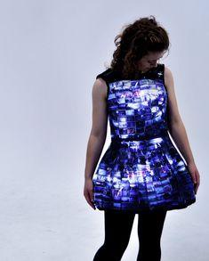 Vestido de Negativos Fotográficos com LEDs   Garotas Nerds