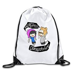 Custom Crazy Cool Dan And Phil Animated Design Drawstring Beam Port Backpack Drawstring Travel Sports Backpack *** Check this awesome product by going to the link at the image. (Note:Amazon affiliate link)