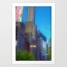 Downtown Chicago / Illinois / October 2009 / Art print on sale @ society6.com