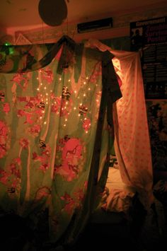 Building a fort inside for sleepovers