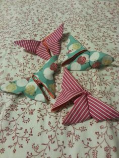 Fabric origami butterfly