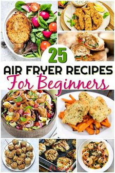 CLICK PIN FOR FULL RECIPE. These easy air fryer recipes produce healthy fried foods that are super crunchy crispy AND juicy. Get all the good of fried food without the bad. Air Fryer Recipes Snacks, Air Frier Recipes, Air Fryer Dinner Recipes, Power Air Fryer Recipes, Crispy Chicken Fingers Recipe, Chicken Fajita Recipe, Pork Recipes, Chicken Recipes, Healthy Recipes