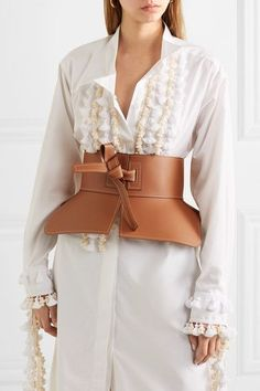 Tan leather (Lamb) Ties at front Made in Spain Obi Belt, Flowing Dresses, Top Designer Brands, Loewe, Belts For Women, Fashion Online, Style Inspiration, Womens Fashion, Fashion Design