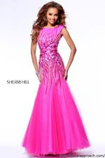 Sherri Hill 21005 The back of this dress dips low with a bow at the back GORGEOUS!