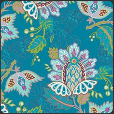 Bazaar Style, Exotic Flora Deep, Oasis Palette by Pat Bravo for Art Gallery Fabrics.   (got some for my next skirt!)