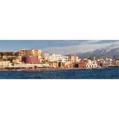 Venetian port and Turkish Mosque Hassan Pascha in front of Lefka Ori mountains Chania Crete Greece Canvas Art - Panoramic Images (36 x 12)