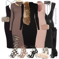 A fashion look from October 2016 featuring Adrienne Landau vests, Alexander Wang sandals and Gianvito Rossi sandals. Browse and shop related looks. Mode Outfits, Night Outfits, Classy Outfits, Sexy Outfits, Stylish Outfits, Fall Outfits, Fashion Outfits, Womens Fashion, Fashion Trends
