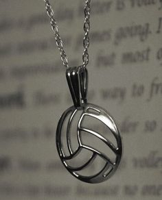 beautiful volleyball necklace
