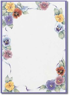 Pansy flower design paper from great papers. text x 11 paper with pansy flower design. Stationary Printable Free, Printable Paper, Free Printable, Stationery Paper, Stationery Design, Paper Journal, Borders For Paper, Note Paper, Writing Paper