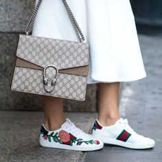 Sneakers can be stylish with these little Gucci numbers. Gucci Ace Embroidered Low-Top Sneaker $695