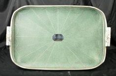 Victorian Silver Plate Shagreen Butlers Tray Platter