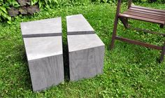 Fragmented concrete coffee table (wood grain registration)