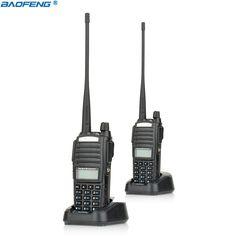 2 adet Yeni Taşınabilir Radyo Walkie Talkie Kulaklık Ile Baofeng UV-82 Düğmesi CB Ham Radyo Vhf Uhf Dual Band Baofeng UV 82 UV82