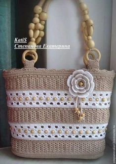 All Srticken: The most beautiful crochet bag models . - All Srticken: The most beautiful crochet bag models -Bolso tejido Discover thousands of images about Crochet bagCrochet Tote with Pony BeadsIf you want to get my handmade bags with linen ethamin Crochet Tote, Crochet Handbags, Crochet Purses, Crochet Stitches, Free Crochet, Knit Crochet, Crochet Patterns, Handmade Handbags, Handmade Bags