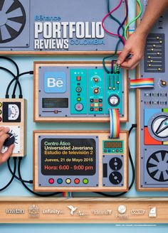 Andres calderon behance portfolio review poster. Paper craft.