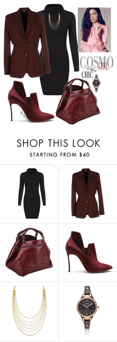 """CEO"" by gigiwhoot ❤ liked on Polyvore featuring Jean-Paul Gaultier, Caroline De Marchi, Casadei, White House Black Market, FOSSIL, women's clothing, women's fashion, women, female and woman"