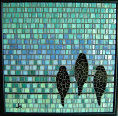 Birds on a Wire by Opus Mosaics, via Flickr
