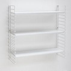 Tomado boekenrek retro - 3 etages - wit
