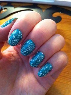 Paisley nail art #nails