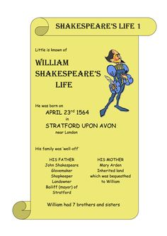 Shakespeare's Life.doc