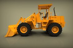 CAD model Wheel loader to download for Solid works available STEP file with PDF with impressive high quality render.