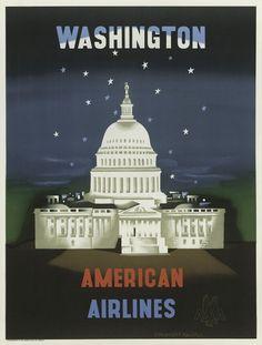 classic posters, free download, graphic design, retro prints, travel, travel posters, vintage, vintage posters, Washington D.C., American Ai...