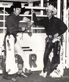 Chris LeDoux & John Holman, who make their homes in Kaycee, Wyoming - National Finals Rodeo - Oklahoma City, Oklahoma - 1970. Description from pinterest.com. I searched for this on bing.com/images