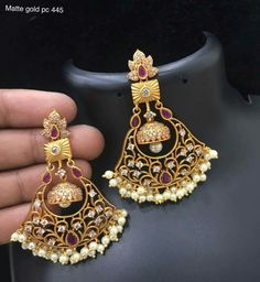 Order what's app 7995736811 Indian Jewelry Earrings, Antique Earrings, Bridal Earrings, Bridal Jewelry, Gold Earrings, Antique Jewelry, Jewellery, Pakistani Jewelry, Traditional Earrings