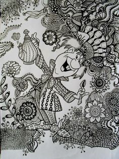 1000 Images About ZENTANGLE DISNEY On Pinterest