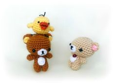 Rilakkuma and his friends! Free pattern for the chick!