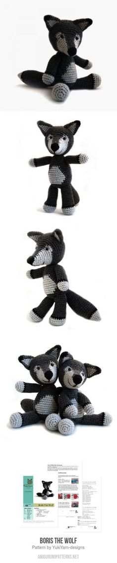 Boris The Wolf Amigurumi Pattern